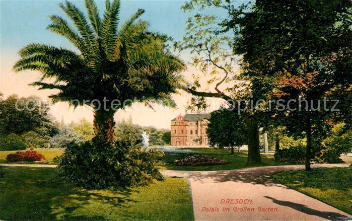 AK / Ansichtskarte Dresden Palais im Grossen Garten Kat. Dresden Elbe
