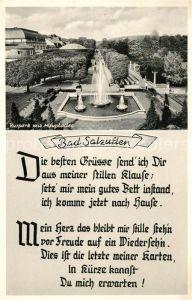 AK / Ansichtskarte Bad Salzuflen Kurpark mit Hauptallee Kat. Bad Salzuflen