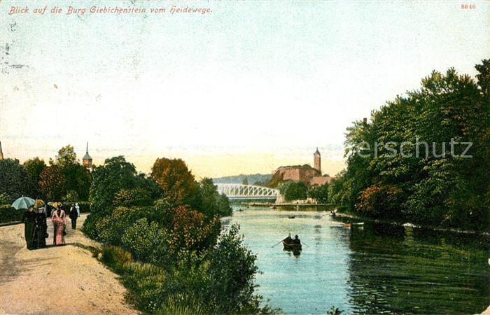 Giebichenstein Halle Saale Burg Giebichenstein vom Heidewege Kat. Halle
