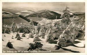 Hochsauerland Astenberg Suedhang im Winter