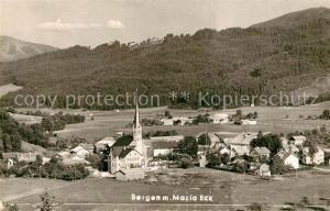 AK / Ansichtskarte Bergen Chiemgau Ortsansicht mit Kirche Landschaftspanorama Kat. Bergen