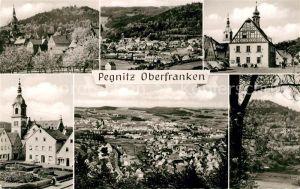 AK / Ansichtskarte Pegnitz Ortsansicht mit Kirche Platz Kirche Landschaftspanorama Kat. Pegnitz