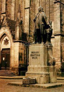 AK / Ansichtskarte Bach Johann Sebastian Denkmal Leipzig Thomaskirche  Kat. Komponist