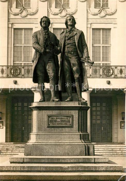 AK / Ansichtskarte Denkmal Goethe Schiller Denkmal Weimar  Kat. Denkmaeler