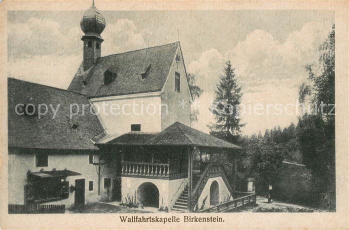 AK / Ansichtskarte Birkenstein Wallfahrtskapelle Kat. Fischbachau