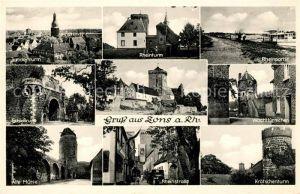 AK / Ansichtskarte Zons Juddenturm Rheinturm Rheinpartie Schlossruine Wachttuermchen Alte Muehle Rheinstrasse Kroetschenturm Kat. Dormagen