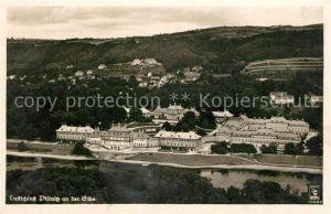 AK / Ansichtskarte Pillnitz Lustschloss an der Elbe Fliegeraufnahme Kat. Dresden