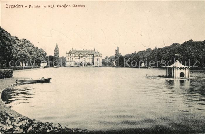 AK / Ansichtskarte Dresden Palais im Kgl Grossen Garten Kat. Dresden Elbe 0