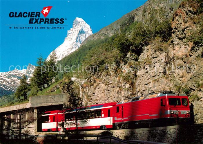 AK / Ansichtskarte Eisenbahn Glacier Express Zermatt Matterhorn  Kat. Eisenbahn