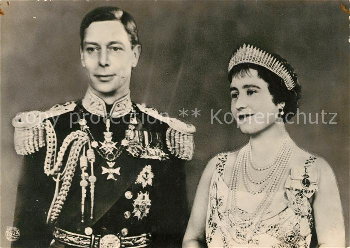 AK / Ansichtskarte Adel England Kind and Queen  Kat. Koenigshaeuser