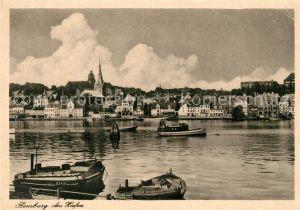 AK / Ansichtskarte Flensburg Partie am Hafen Kat. Flensburg