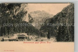 AK / Ansichtskarte Schluderbach Carbonin gegen Monte Pian Sextener Dolomiten