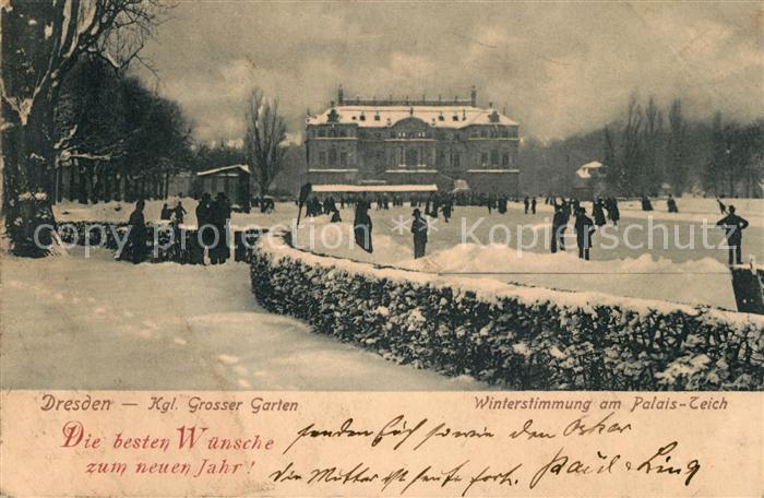 AK / Ansichtskarte Dresden Kgl Grosser Garten Palais Teich Kat. Dresden Elbe