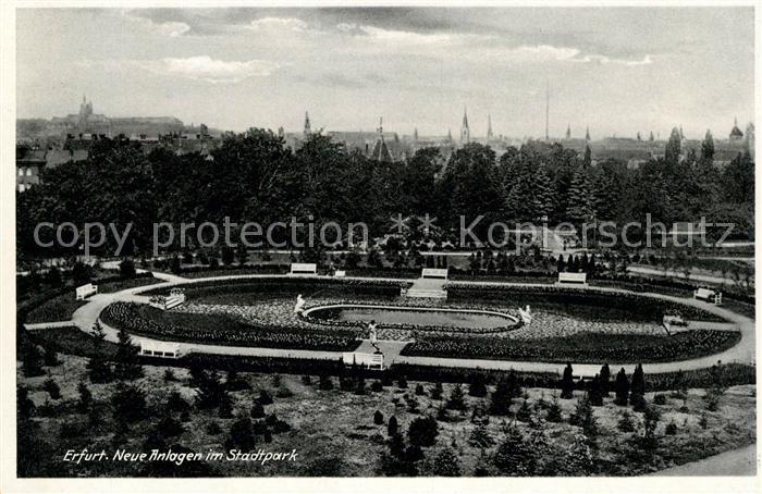 AK / Ansichtskarte Erfurt Neue Anlagen im Stadtpark Kat. Erfurt