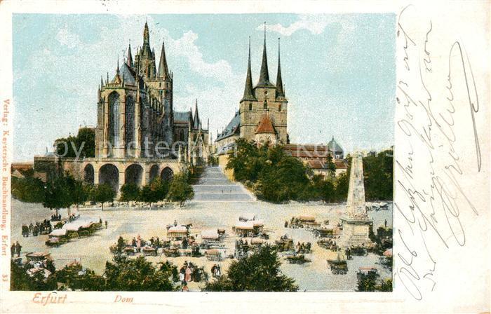 AK / Ansichtskarte Erfurt Dom Kat. Erfurt