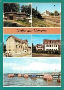 AK / Ansichtskarte ueckeritz Usedom Fischerhuette Bahnhof Rat der Gemeinde Kat. ueckeritz Usedom
