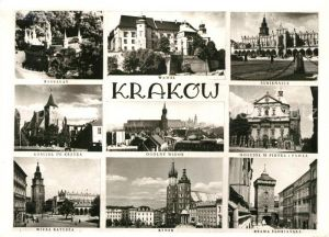 AK / Ansichtskarte Krakow Krakau Wawel Rynek Brama Florianska