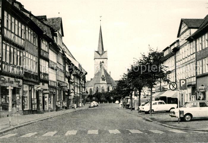 AK / Ansichtskarte Duderstadt Marktstrasse St Servatius Kirche Kat. Duderstadt