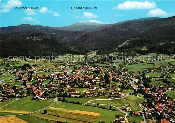 AK / Ansichtskarte Bodenmais Fliegeraufnahme Kl. Gr. Arber  Kat. Bodenmais