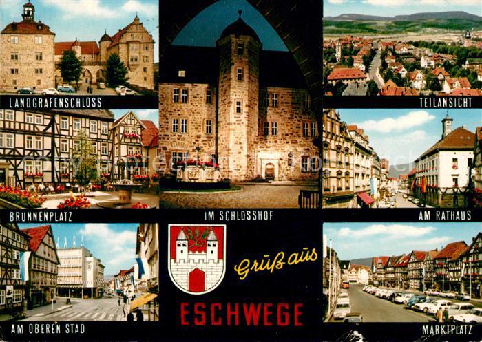 AK / Ansichtskarte Eschwege Schlosshof Marktplatz Rathaus  Kat. Eschwege