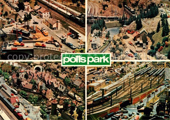 AK / Ansichtskarte Modellbau Eisenbahn Potts Park Duetzen Minden Kat. Spielzeug