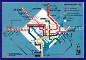 AK / Ansichtskarte Metro U Bahn Subway Underground Transit System Map Washington