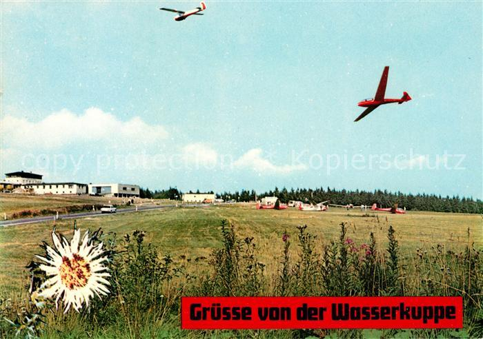 AK / Ansichtskarte Segelflug Wasserkuppe Kat. Flug