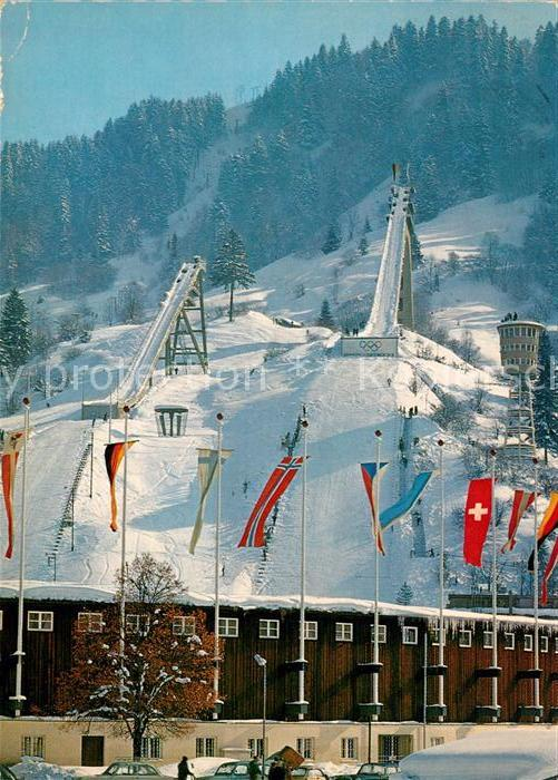 AK / Ansichtskarte Ski Flugschanze Olympia Skistadion Garmisch Partenkirchen Grosse Schanze  Kat. Sport