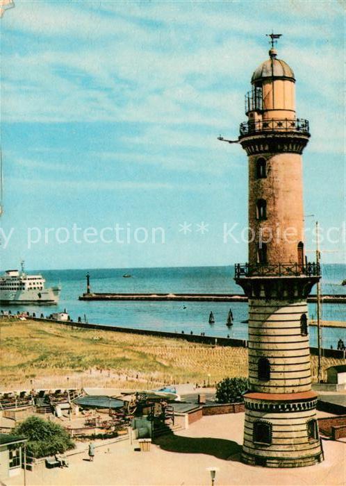 AK / Ansichtskarte Leuchtturm Lighthouse Warnemuende  Kat. Gebaeude