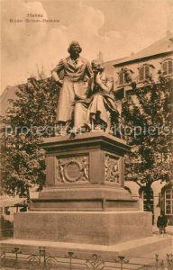 AK / Ansichtskarte Hanau Main Brueder Grimm Denkmal Statue Kat. Hanau