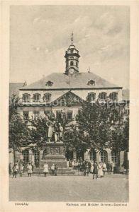 AK / Ansichtskarte Hanau Main Rathaus Brueder Grimm Denkmal Kat. Hanau