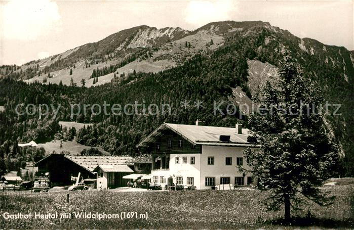 AK / Ansichtskarte Unken Alpengasthof Heutal mit Wildalphorn Kat. Unken