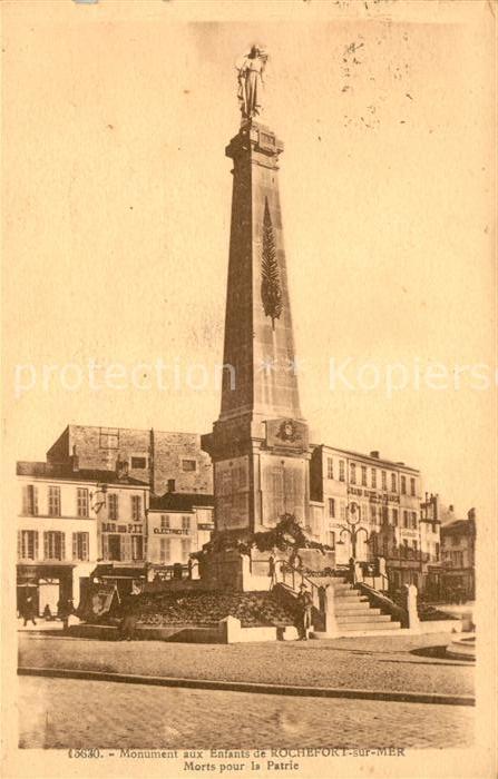AK / Ansichtskarte Rochefort sur Mer Monument aux Enfants Morts pour la Patrie Kat. Rochefort Charente Maritime