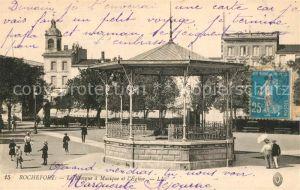 AK / Ansichtskarte Rochefort sur Mer Le Kiosque a Musique et Eglise Kat. Rochefort Charente Maritime