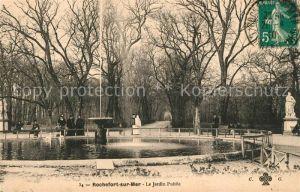 AK / Ansichtskarte Rochefort sur Mer Le Jardin Public Kat. Rochefort Charente Maritime