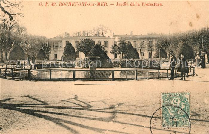 AK / Ansichtskarte Rochefort sur Mer Jardin de la Prefecture Kat. Rochefort Charente Maritime