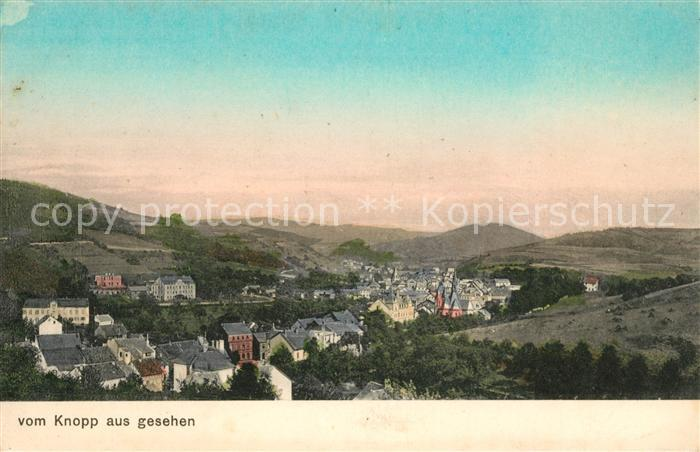 AK / Ansichtskarte Adenau Gesamtansicht Landschaftspanorama vom Knopp aus gesehen Kat. Adenau