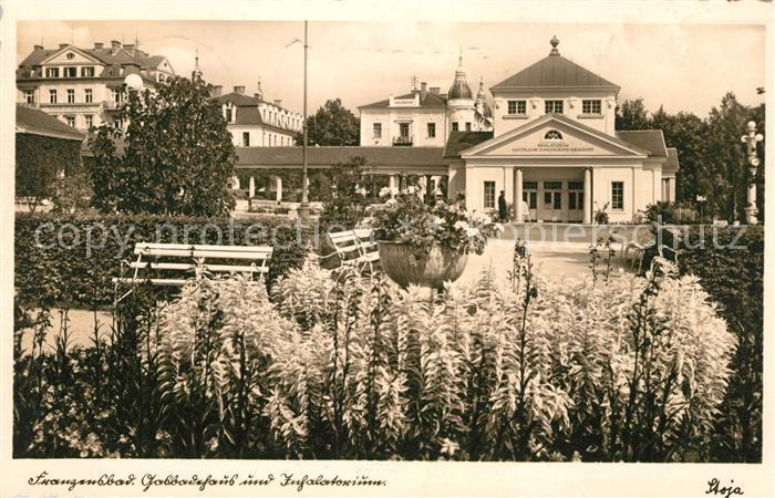 AK / Ansichtskarte Franzensbad Boehmen Gasbadehausund Inhalatorium Kat. Frantiskovy Lazne