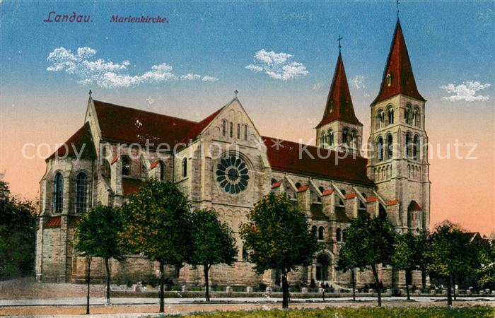 ak ansichtskarte landau pfalz marienkirche kat landau in der pfalz nr sa58346 oldthing. Black Bedroom Furniture Sets. Home Design Ideas