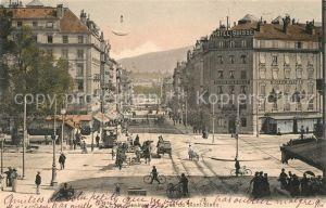 AK / Ansichtskarte Geneve GE La rue du Mont Blanc Kat. Geneve