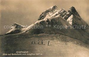 AK / Ansichtskarte Bergsteigen Klettern Jungfraujoch Rottalhorn Jungfrau Kat. Bergsteigen