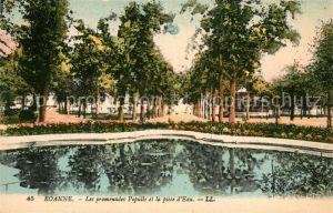 AK / Ansichtskarte Roanne Loire Les promenades Populle et la piece d Eau Kat. Roanne