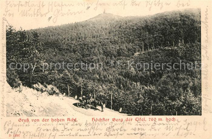 AK / Ansichtskarte Adenau Hohe Acht Hoechster Berg der Eifel Landschaftspanorama Kat. Adenau