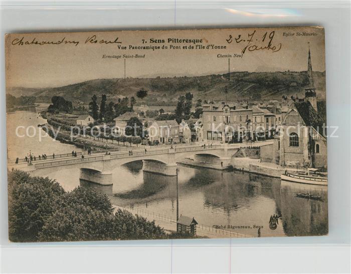 AK / Ansichtskarte Sens Yonne Pont et l Ile d Yonne