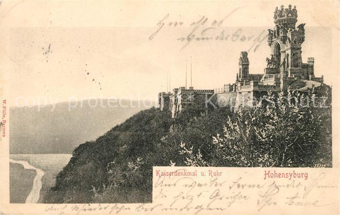 AK / Ansichtskarte Hohensyburg Kaiserdenkmal und Ruhr Kat. Dortmund