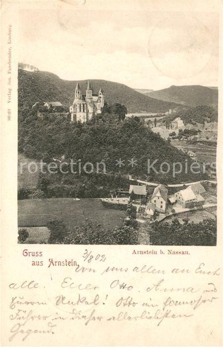 AK / Ansichtskarte Nassau Bad Kloster Arnstein Kat. Nassau Lahn