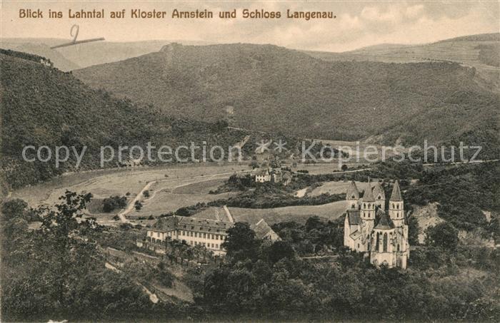 AK / Ansichtskarte Nassau Bad Kloster Arnstein und Schloss Langenau Kat. Nassau Lahn