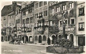 AK / Ansichtskarte Stein Rhein Rathausplatz Brunnen Gasthof Historische Gebaeude Kat. Stein Rhein