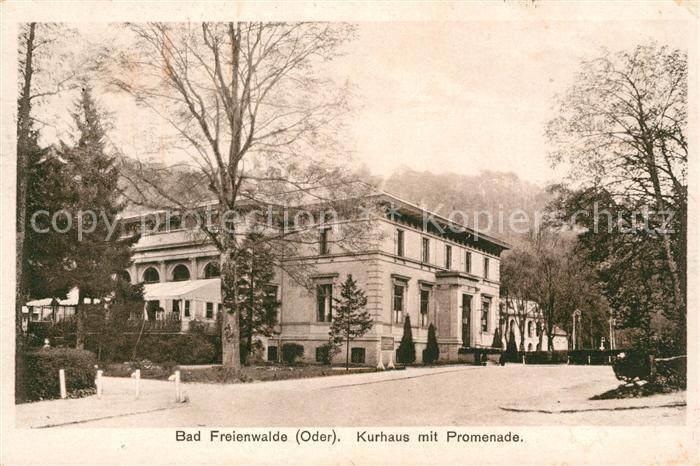 AK / Ansichtskarte Bad Freienwalde Kurhaus mit Promenade Kat. Bad Freienwalde