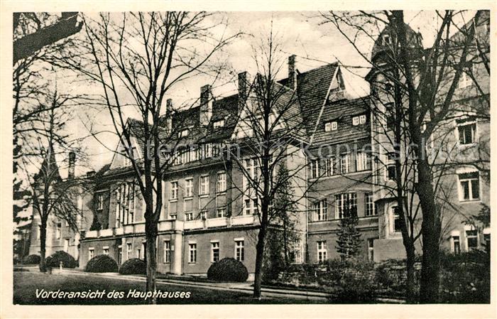 AK / Ansichtskarte Woltersdorf Erkner Haus Gottesfriede ev Krankenhaus Haupthaus Kat. Woltersdorf Erkner